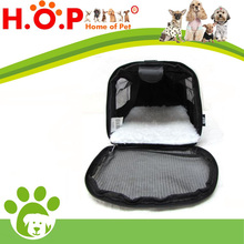 Travel Pet Carrier Small Black Tote Soft Nylon Travel Mesh Bag Dog or Cat