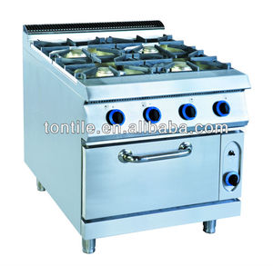 OH900 Tontile hotel kitchen stove equipments electric gas wok range with four burners&oven