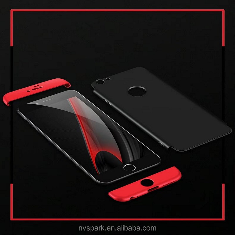 New Design!!360 Degree Full Cover Protect Camera Ultra Thin PC Material Case Phone Cover For Iphone 6 6S 7