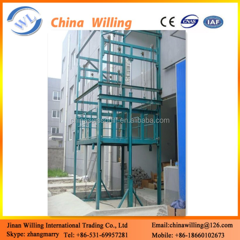 Havy Truck Lift Guide Rail Chain Elevator Freight High Lifting Platform