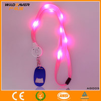 fancy badge holder lanyard/work id card holder lanyard/LED Lanyards