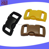 Plastic buckles for strapping band,quick release plastic bag buckle,Curved buckle