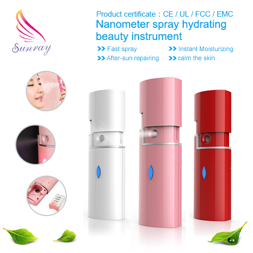 Mini Facial Hair Nano Mister mini fogger face steamer for home using