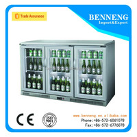 Three doors Beer Fridge, Beverage Cooler for pub&mini bar