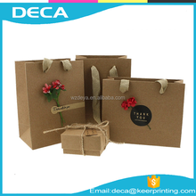 Cheap Price Custom Paper Packaging bag Personalized Fancy craft paper gift bag
