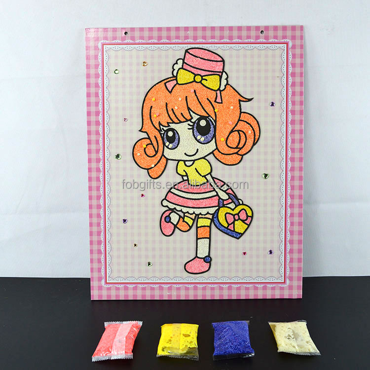 wholesale customeducational toys/sand art cards/fancy items for kids