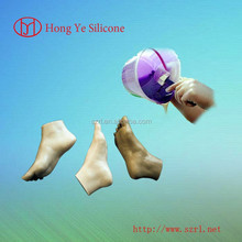 rtv2 lifecasting flexible silicone rubber for real silicone feet, Artificial limb making silicone
