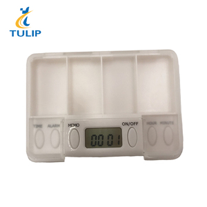 Electronic Smart Multi-Alarm Reminder One Day Plastic Child Proof Pill Box With Timer