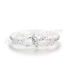 Crystal Shinning Grape Design Two compartment Snack Tray