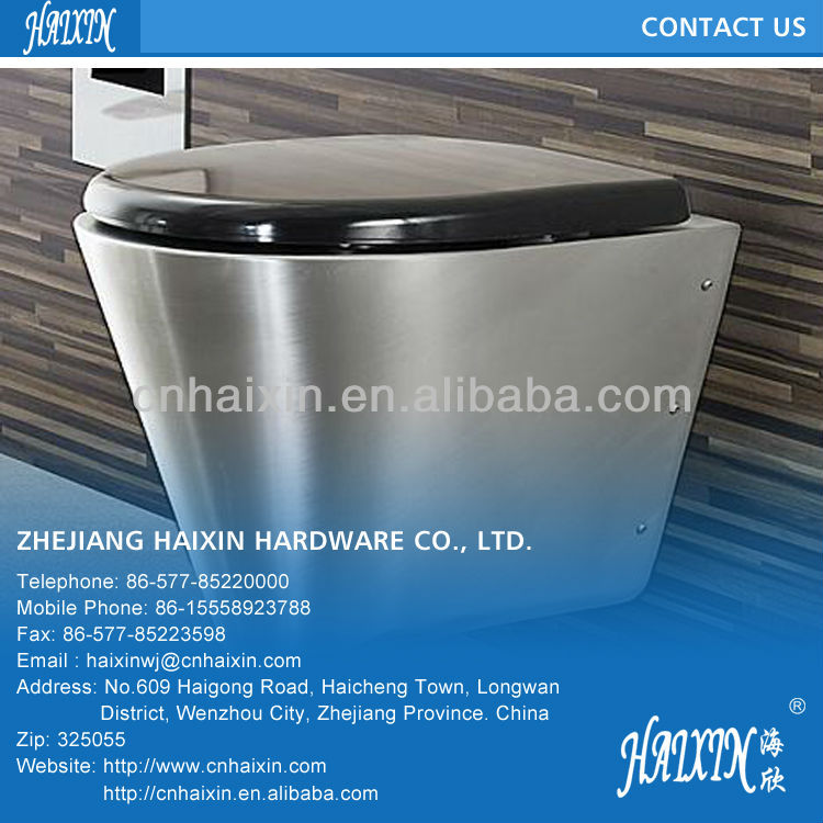 Siphon Jet Commercial Stainless Steel Toilet (Off-Floor or On-Floor, Wall Waste)