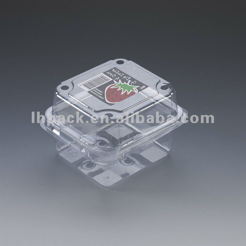 Waterproof plastic lunch disposable fruit container Disposable Plastic Fruit Clamshell Punnet