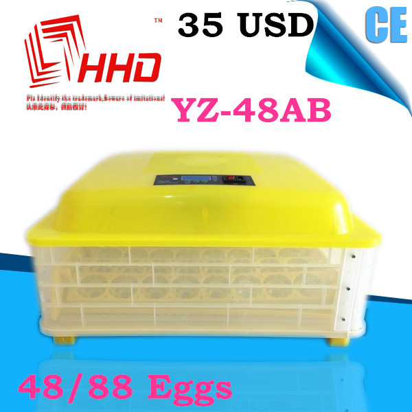 HHD YZ-48AB CE marked 48 ostrich egg incubator with best price for sale fighting cock Chicken Farm with 48 eggs capacity