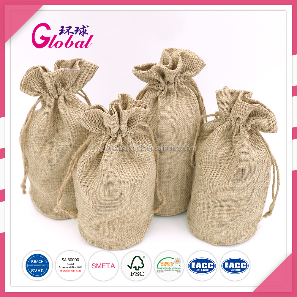 Global Custom Natural Color cotton canvas drawstring dust bags for handbag and shoes