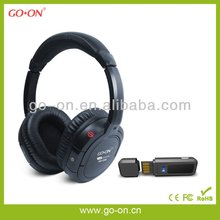 Crystal clear stereo sound 2.4G wireless headset for PC use