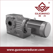 New product GK Series Helical-Bevel Right Angle Shaft Reduction Gear Box With Motor with good quality