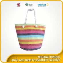 Cheap Price High Quality Customized Small Tote Printed Paper Straw Bag