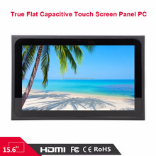 15.6 Fanless Industrial grade Industrial Touch Panel computer(all in one panel pc)with 4GB RAM 64 GB SSD