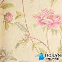 self-adhesive design pvc peelable wallpaper