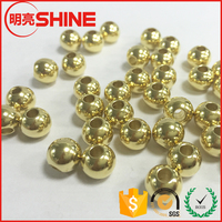 Charming Gold Silver plated Jewelry Stainless Steel Ball With Hole
