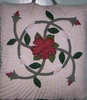 100% Hand quilted Pillow - Dogwood