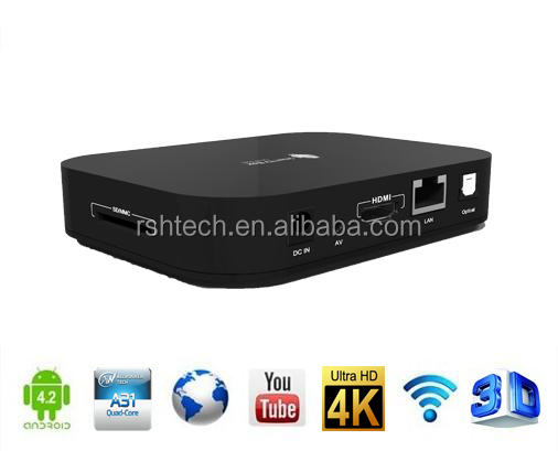 android google wifi 4K tv box ,Allwinner A31 quad core with 2GB/DDR3,8GB/ROM, free download videos with all formats display