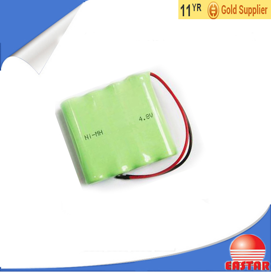 Nimh rechargeable battery pack 4.8v AA 1800mah for Electric Tools