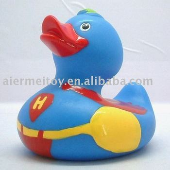 Promotional Custom Floating Bath Duck Vinyl Rubber Toy OEM 6P PVC
