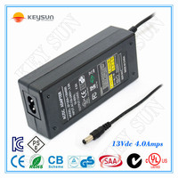 100-240V AC/DC 13V 4A Switching Power Adapter