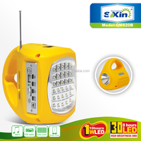 Portable multifunctional solar emergency light with FM radio