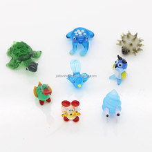 Lampwork murano miniature blown glass animals figurine wholesale