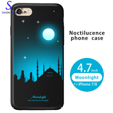 Night Light Hard PC Case For iPhone 7 100% Fit Mobile Phone Cover Shell