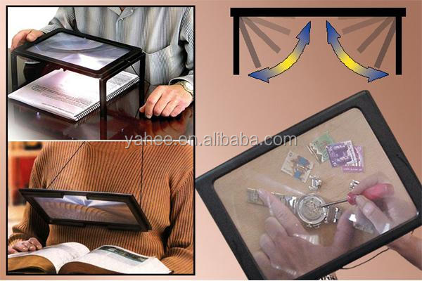 Giant Large Hands Free Magnifier Glass For Reading Crafts Sewing Handcraft Hobby