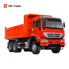 HOWO 6x4 25 ton Dump Truck dimensions optional with Euro 2 Emission Standard Hyva Hydraulic Lift Cylinder