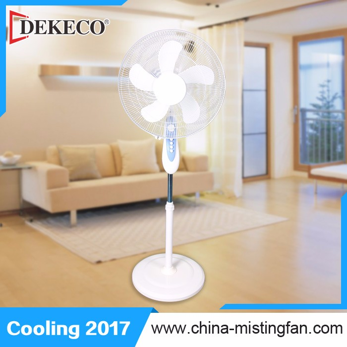 Electrical floor fan stand up oscillating fan with ABS fan blade