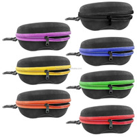 Colorful Zipper Shell Sunglasses Glasses Case with Belt Loop