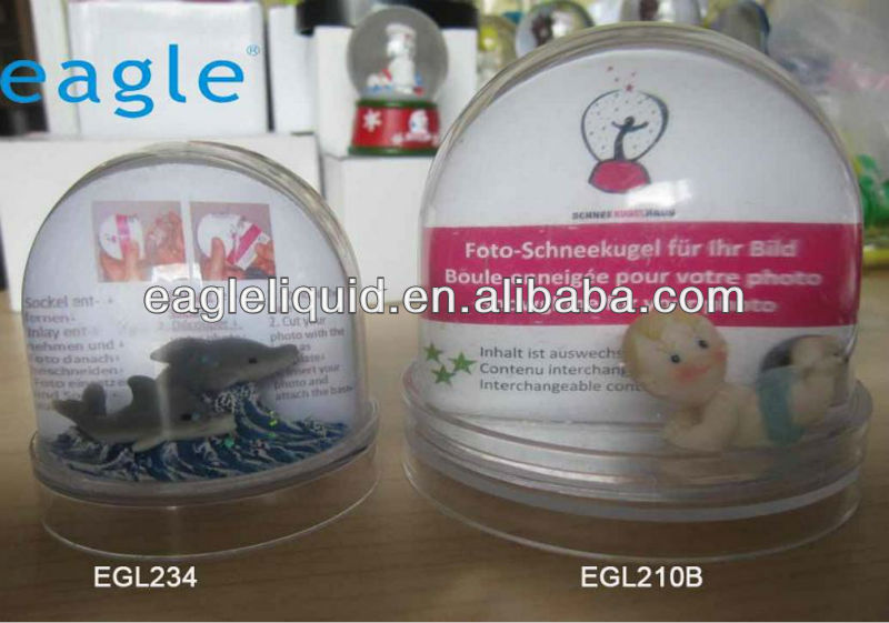 ocean style acrylic dome with photo inside photo snow globe