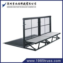 2012 hot sale aluminum stage aluminum truss with crowd control barriers