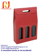 full color paper strong wine bottle carrier box
