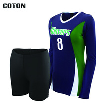 Sublimation printed lastest design your own colors custom volleyball jersey