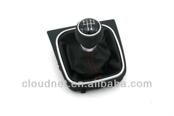 Manual Gear Shift Knob & Boot RED Stitching For VW Volkswagen Golf MK5