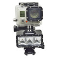 Go Pro Accessories With Li-ion Battery 30M Waterproof LED Light, Max to 300 Luminance