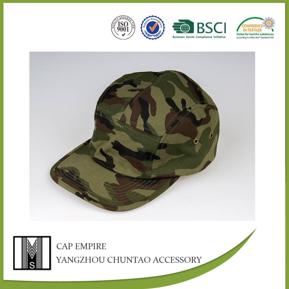 BSCI Audit adults green camo printed cool cotton military hat patterns