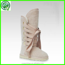Newest warm Australian sheepskin winter snow boots for woman