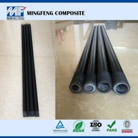 Mat covered raw material fiber glass treated wooden poles
