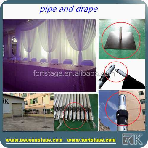 RK pipe and drape wedding backdrop/ceiling drapery/luxury curtain for sale