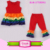 2017 Wholesale Easter Girls Clothes Set Rainbow Tunic Dress And Icing Pants Baby Boutique Clothing Sets Kids Easter Outfits