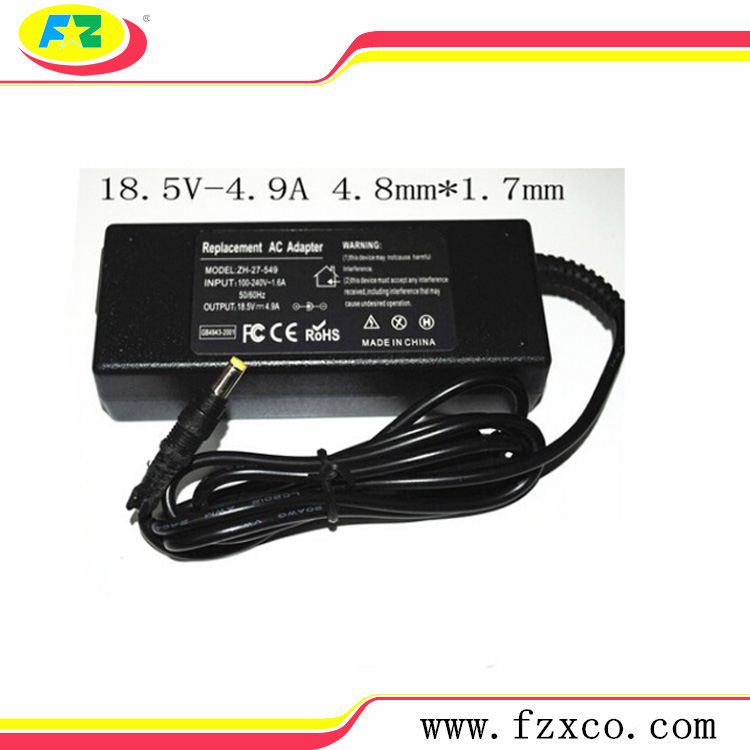 90W 18.5V 4.9A 4.8*1.7mm Power Supply AC Adapter Laptop Charger for Hp