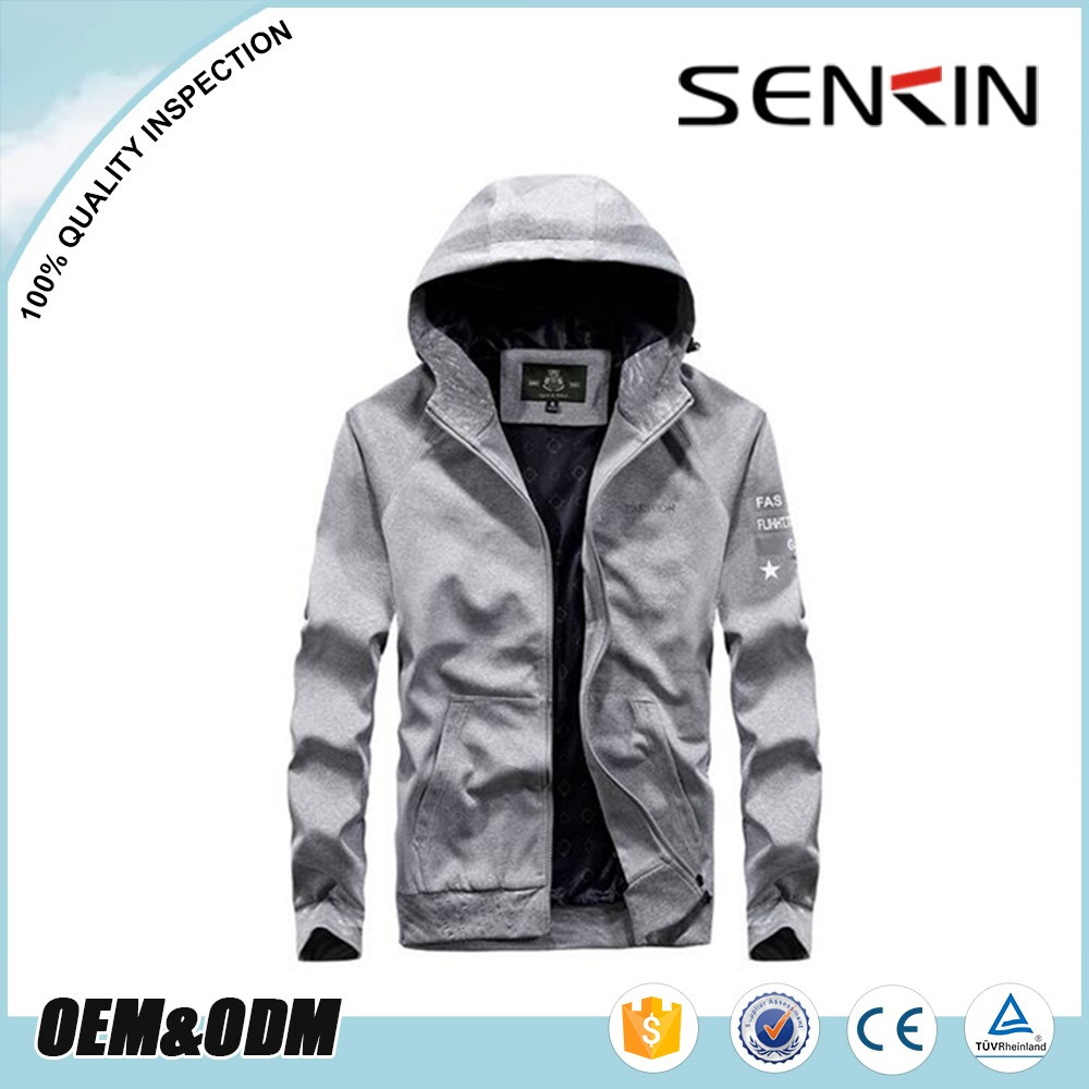 Custom varsity men's sport jackets rain coat