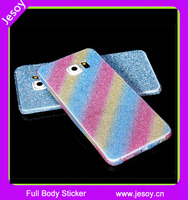 JESOY Sparkle Bling Full Body Glitter Phone Wrap Skin Sticker For Samsung Galaxy s3 s4 s5