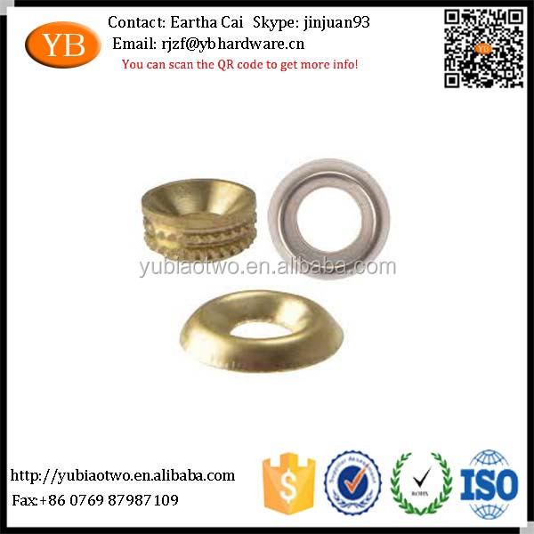 Customized metal /brass flat washer with colored from Chinese supplier